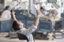 obchodník vydělává peníze