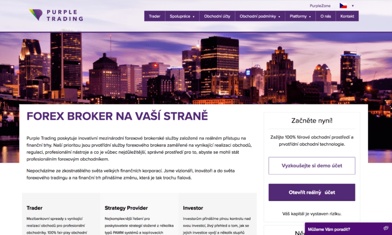 Forexový broker Purple Trading: Portfolio management