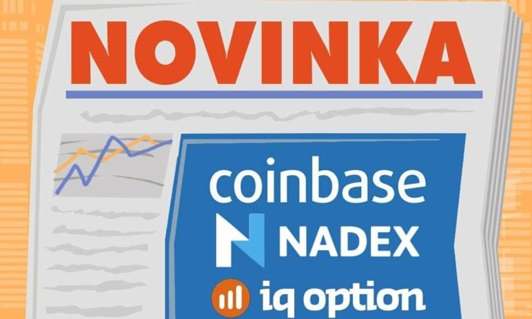 Novinka: Binární opce NADEX, FX Opce a Coinbase
