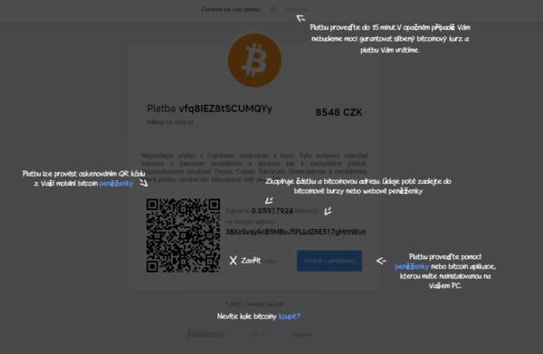alza platba bitcoinem