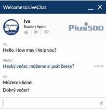 živá podpora plus500 česky