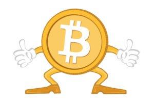 bitcoin ukazující palec nahoru