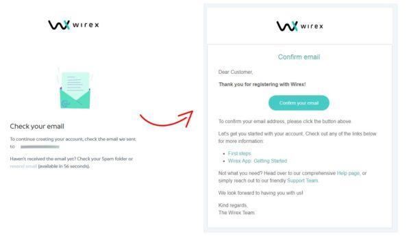 wirex registrace krok 3