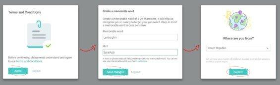 wirex registrace krok 4