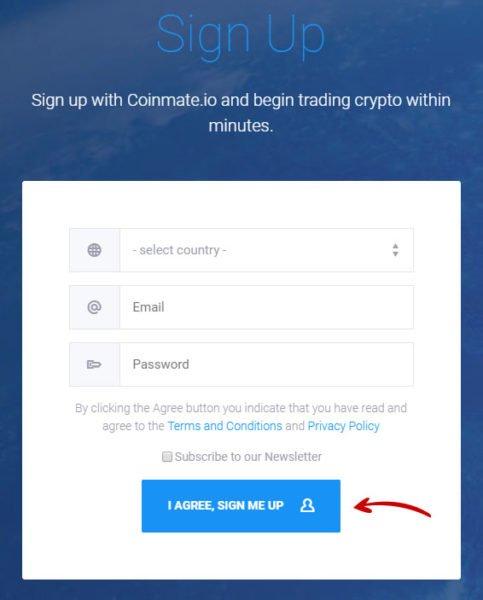 nakup kryptomen coinmate 1