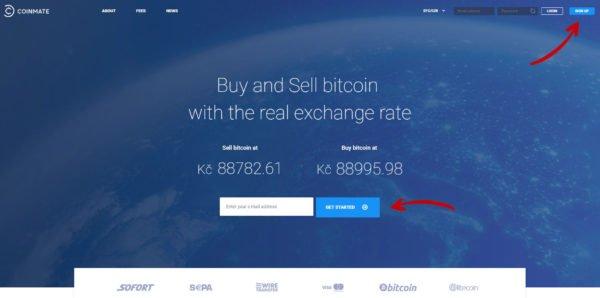 nakup kryptomen coinmate
