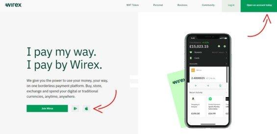 wirex penezenka registrace 1