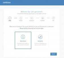 Coinbase verifikace
