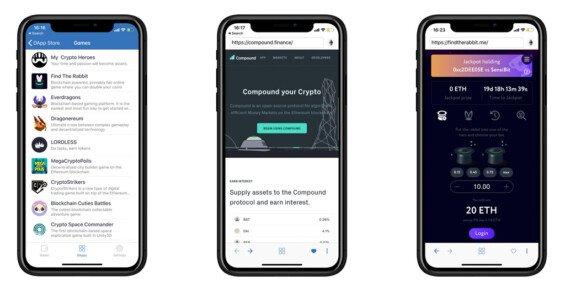 Trust Wallet DApp prohlížeč