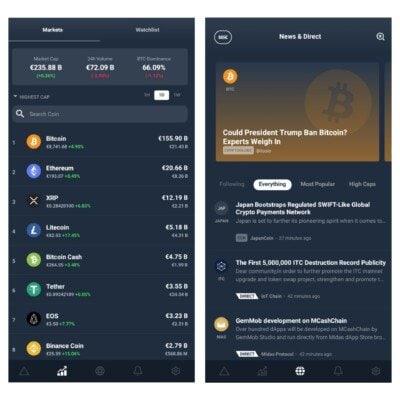 Uživatelské rozhraní aplikace Delta