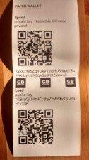 papirova penezenka - bitcoin paper wallet