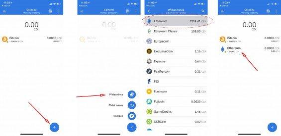 Jak přidat další kryptoměny do aplikace Coinomi?