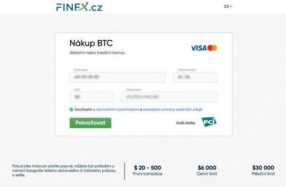 Jak koupit bitcoin kartou