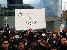 kritika uber protest