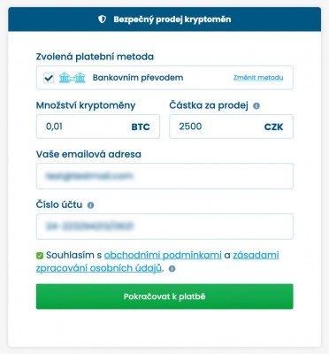 prodej bitcoinu (kryptoměny) jak na to