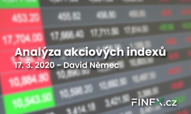 [Indexy] Analýza 17. 3. 2020 – Výprodej akcií na burze, co bude dál?