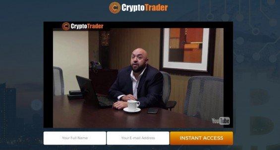 Samotný web Crypto Trader už na první pohled nevzbuzuje moc důvěry.