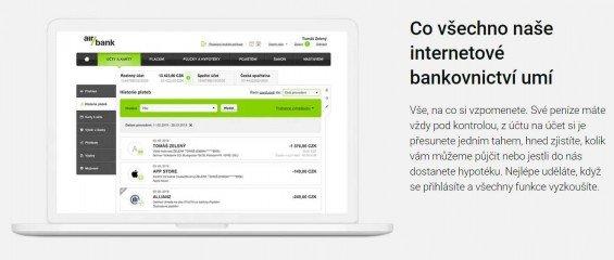 Air Bank Internetové bankovnictví