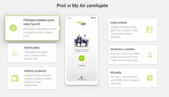Mobilni bankovnictvi Air Bank