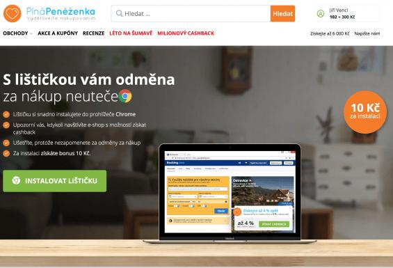 Doplněk do Chrome - Lištička (upozorní na partnerský e-shop)