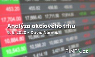 [Akcie] Analýza 5. 5. 2020 – Akcie zatím odolávají špatným ekonomickým zprávám