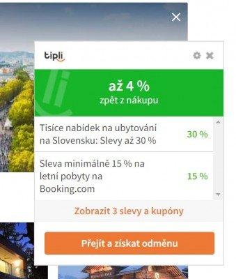 Při instalaci rozšíření do prohlížeče vám už nikdy neunikne žádná odměna ani sleva. (zdroj: Tipli.cz)