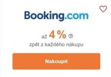 Tipli u Booking.com nabízí až 4 % odměny. (zdroj: Tipli.cz)