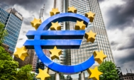 Euro sign at European Central Bank headquarters in Frankfurt, Ge