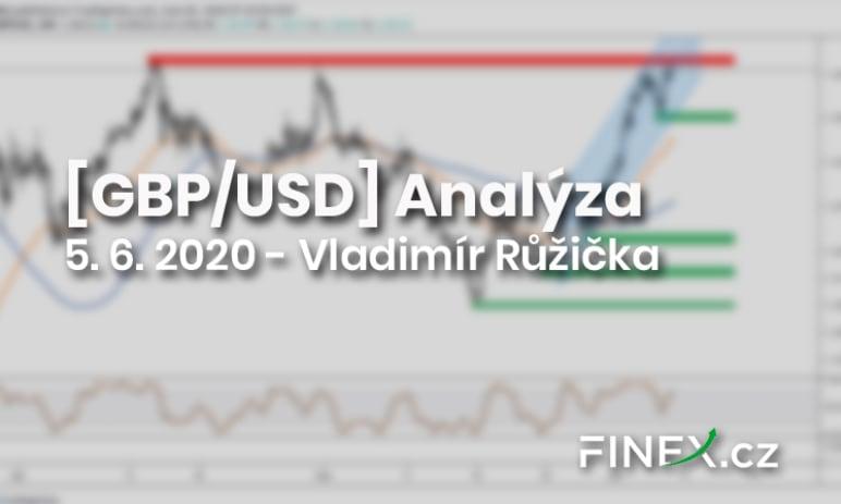 [GBP/USD] Analýza 5. 6. 2020 - Britská libra na vlně tržního optimismu