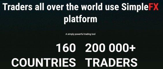 Recenze SimpleFX - počet obchodníků