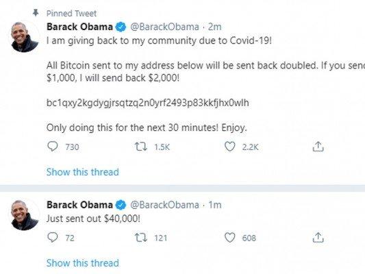 """Podvodný Tweet """"Baracka Obamy"""""""