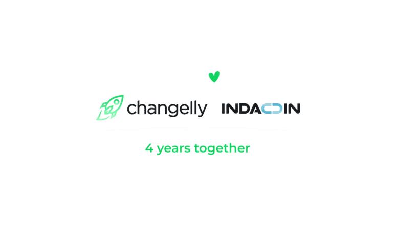 Changelly a Indacoin oslavují partnerství tím, že nabízejí velké slevy