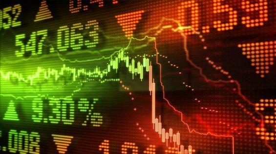 burza trhy graf akcie