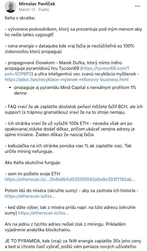 Info o možném fungování Kelta