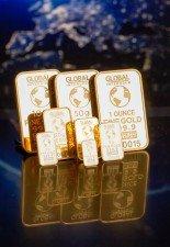 zlaté slitky investiční cihly