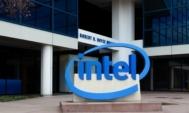 Intel-logo-akcie-budova