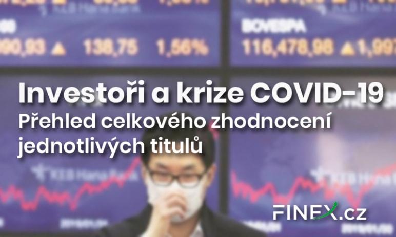 Investoři a krize COVID-19: Vítězství velkých hráčů? Přehled celkového zhodnocení jednotlivých titulů