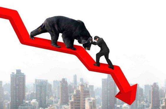 Bear-market-medvedi-trh-klesajici-graf