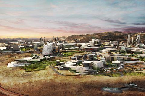 kryptoměnové město navrhované miliardářem Jeffrym Bernsem