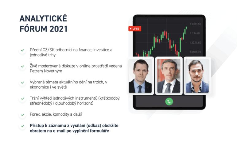 [ZÁZNAM] Hlavním tématem Analytického fóra 2021 byl vliv inflace na investice. Podívejte se zdarma na záznam online