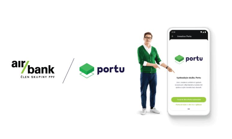 Air Bank klientům nově nabízí možnost investovat skrze Portu přímo ve svémobilní aplikaci