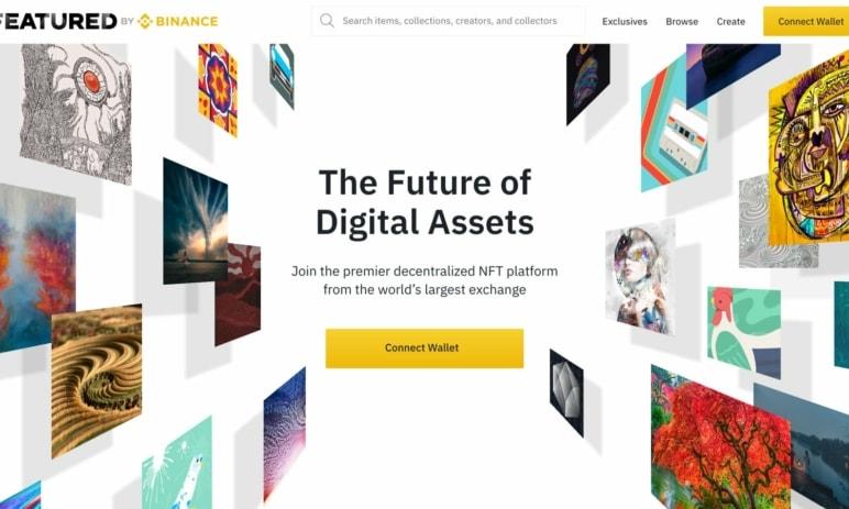 Featured by Binance - NFT platforma z dílen Binance