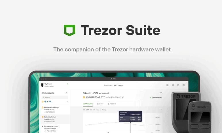 Kryptoměnové peněženka Trezor přichází s novinkou - aplikace Suite v plné verzi!